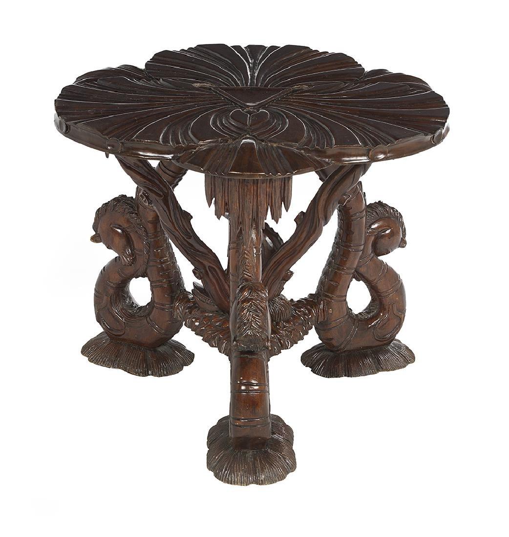 Grotto-Style Mahogany Center Table