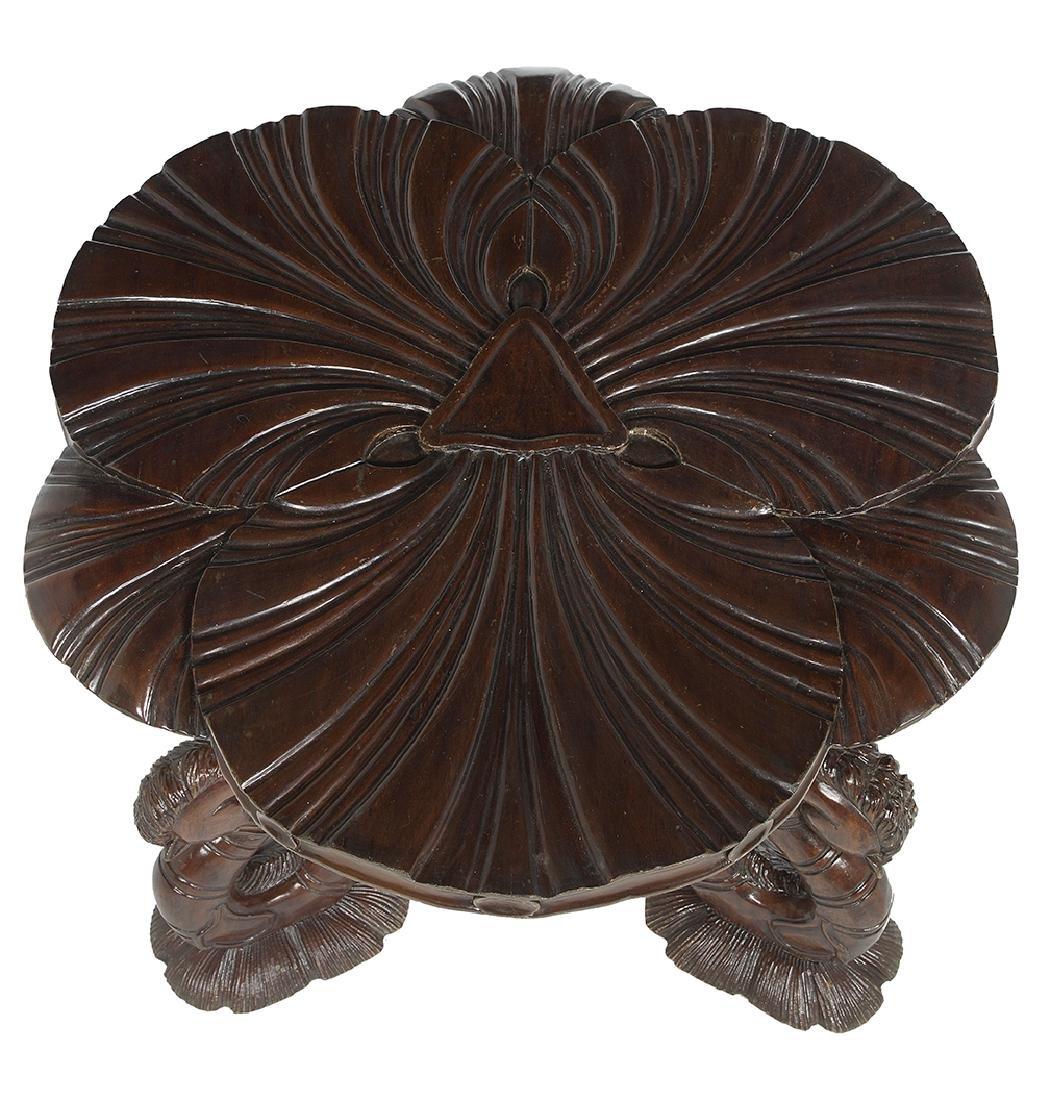 Grotto-Style Mahogany Center Table - 4