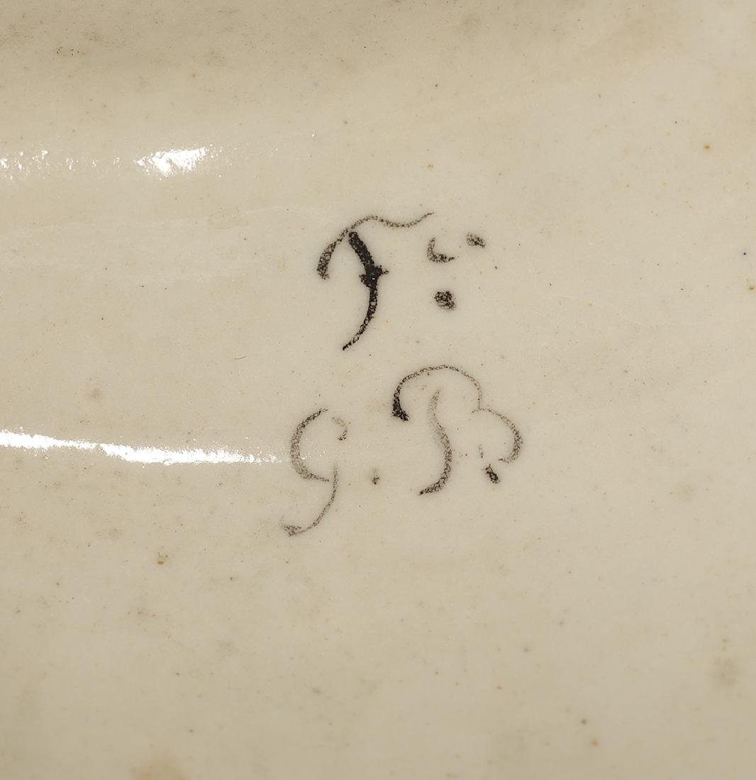 Italian Hand-Painted Majolica Covered Urn - 3