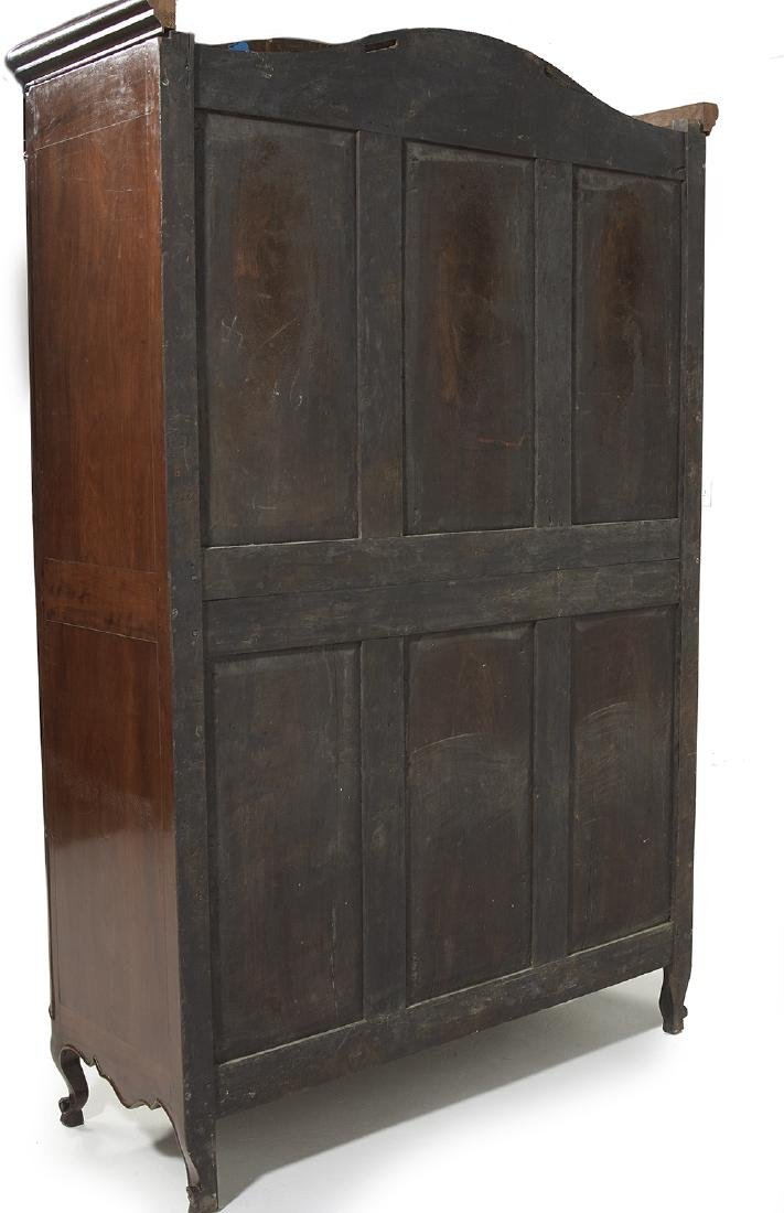 Continental Mahogany and Fruitwood Armoire - 4