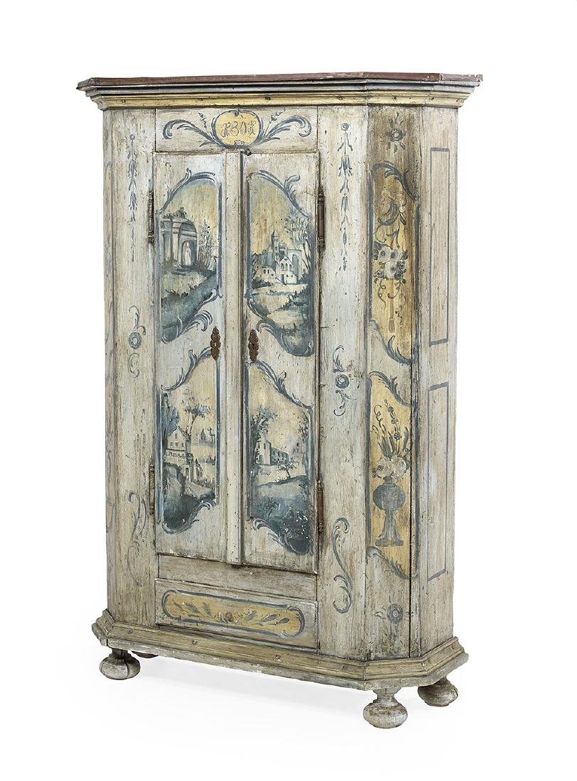 Continental Polychrome Armoire - 2