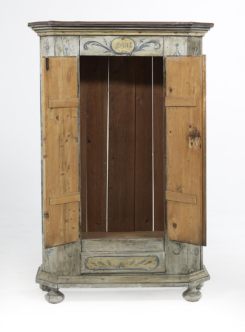 Continental Polychrome Armoire - 3
