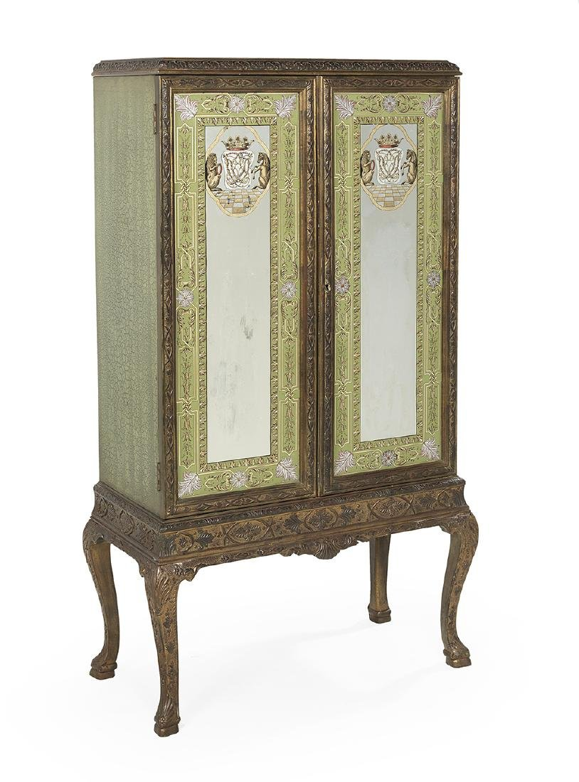Continental Giltwood and Polychrome Cabinet - 2