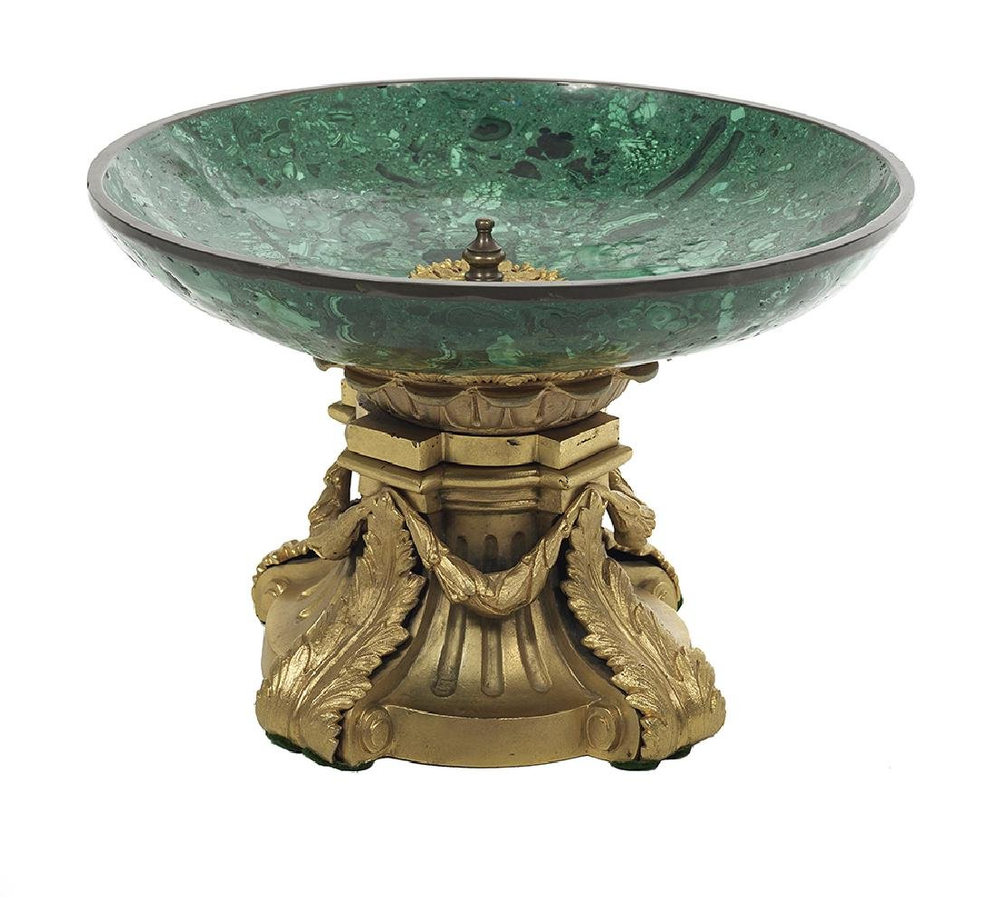 Malachite and Gilt-Bronze Tazza