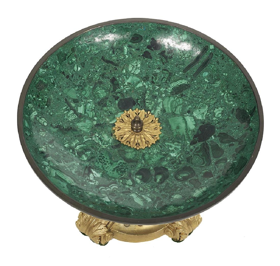 Malachite and Gilt-Bronze Tazza - 2