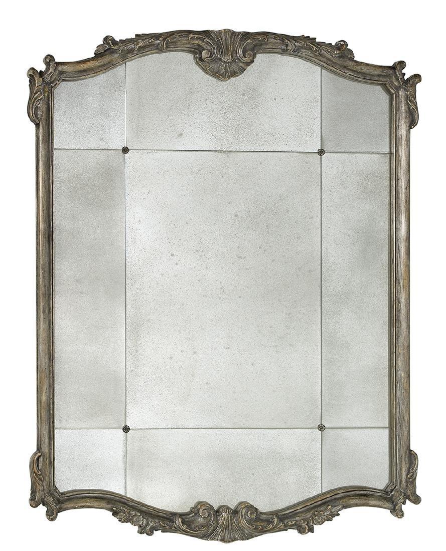 Louis XV-Style Silver Gilt Overmantel Mirror
