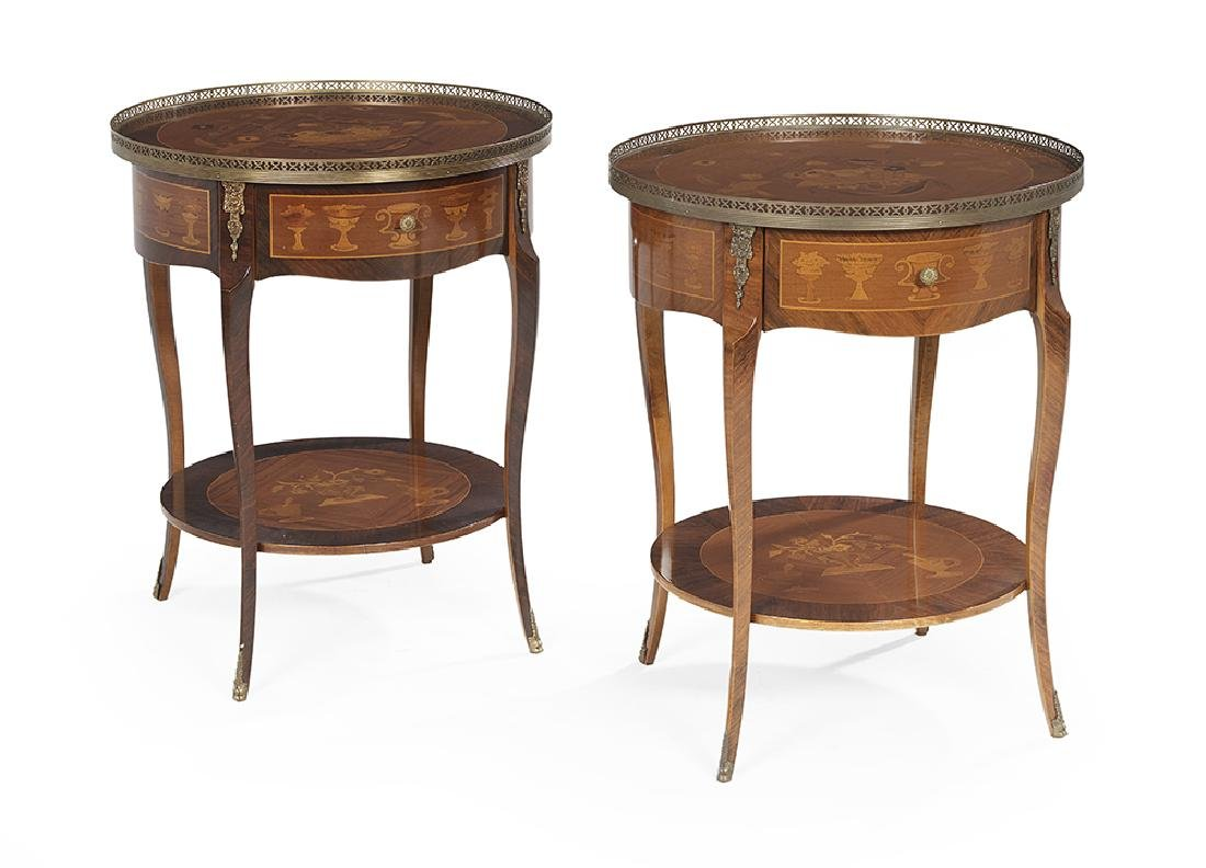 Pair of Louis XV-Style Occasional Tables