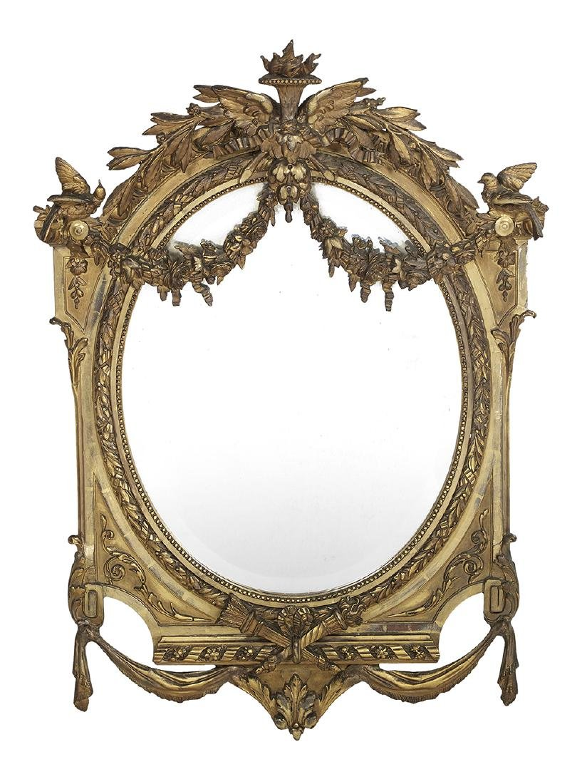Exceptional French Giltwood Mirror