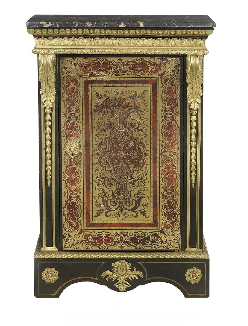 Napoleon III Marble-Top Parlor Cabinet