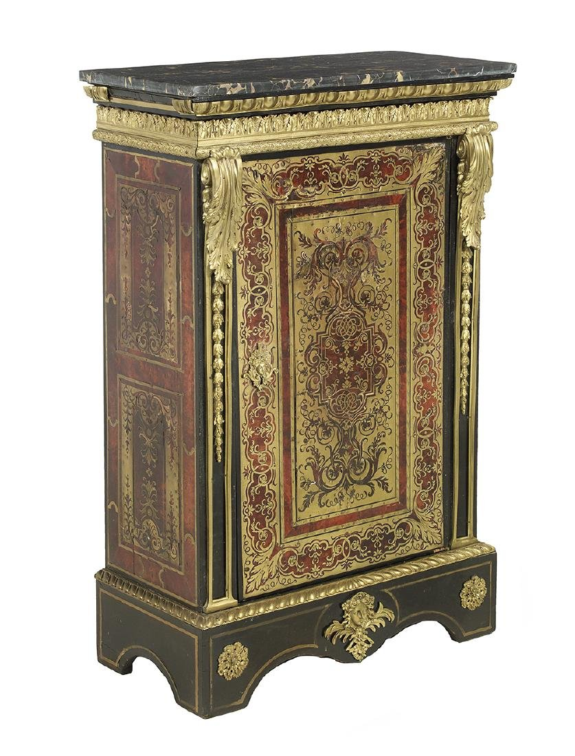 Napoleon III Marble-Top Parlor Cabinet - 2