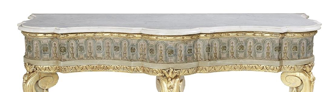 Italian Neoclassical Marble-Top Console Table - 3