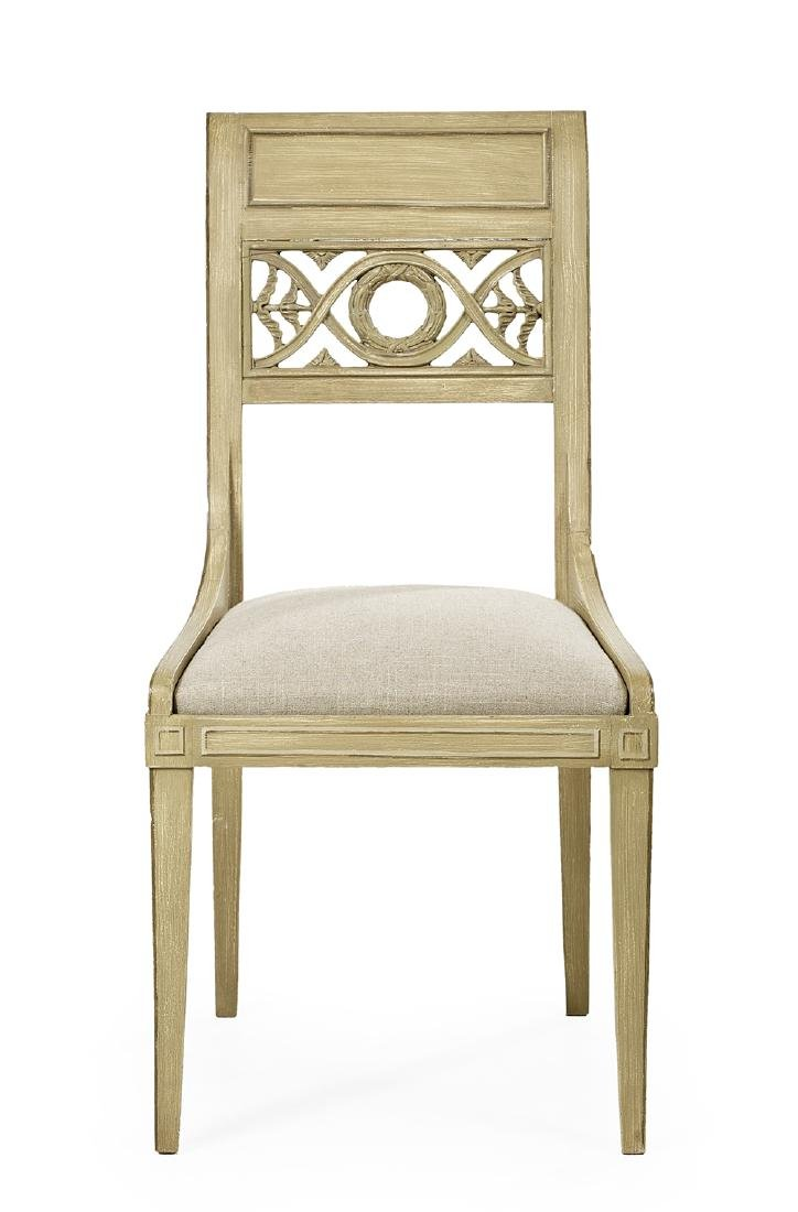 Six Directoire-Style Polychrome Side Chairs - 2