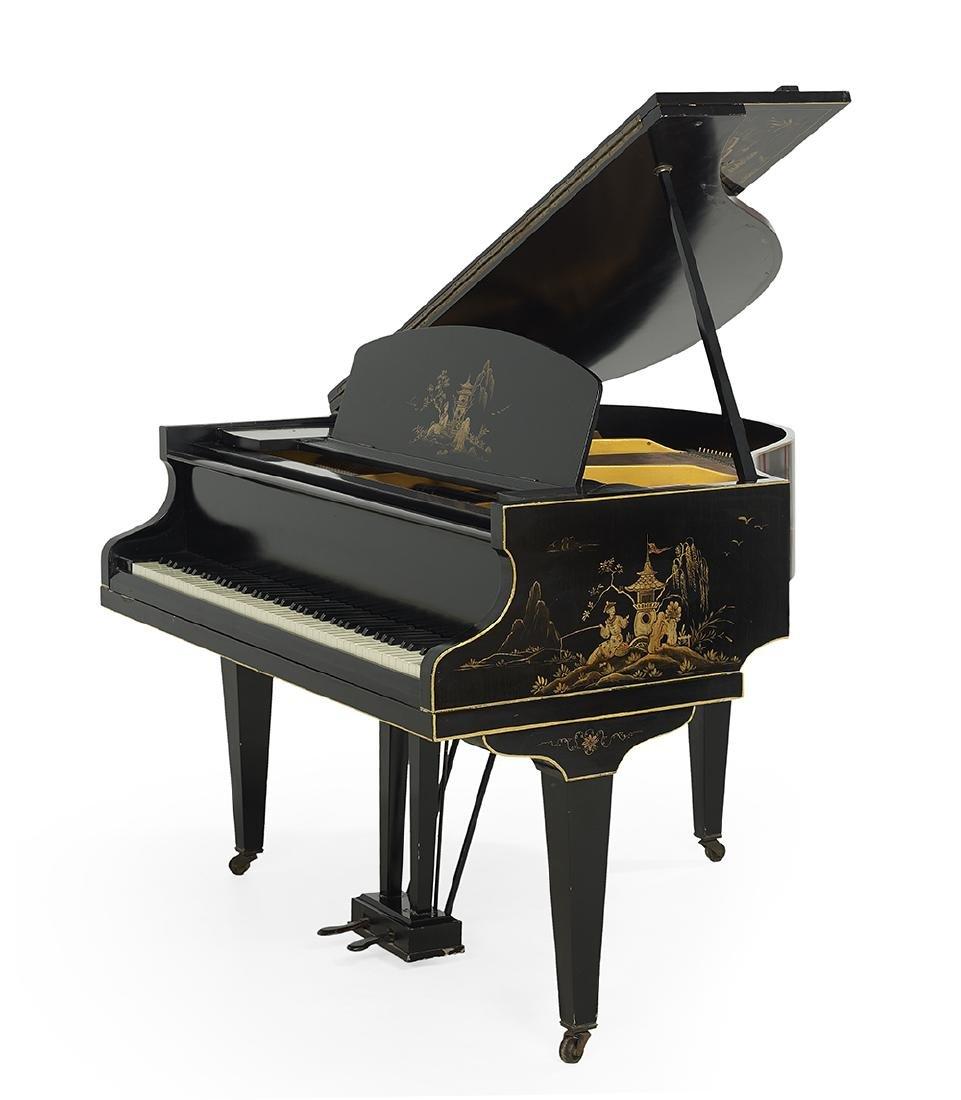 Challen Chinoiserie Baby Grand Piano