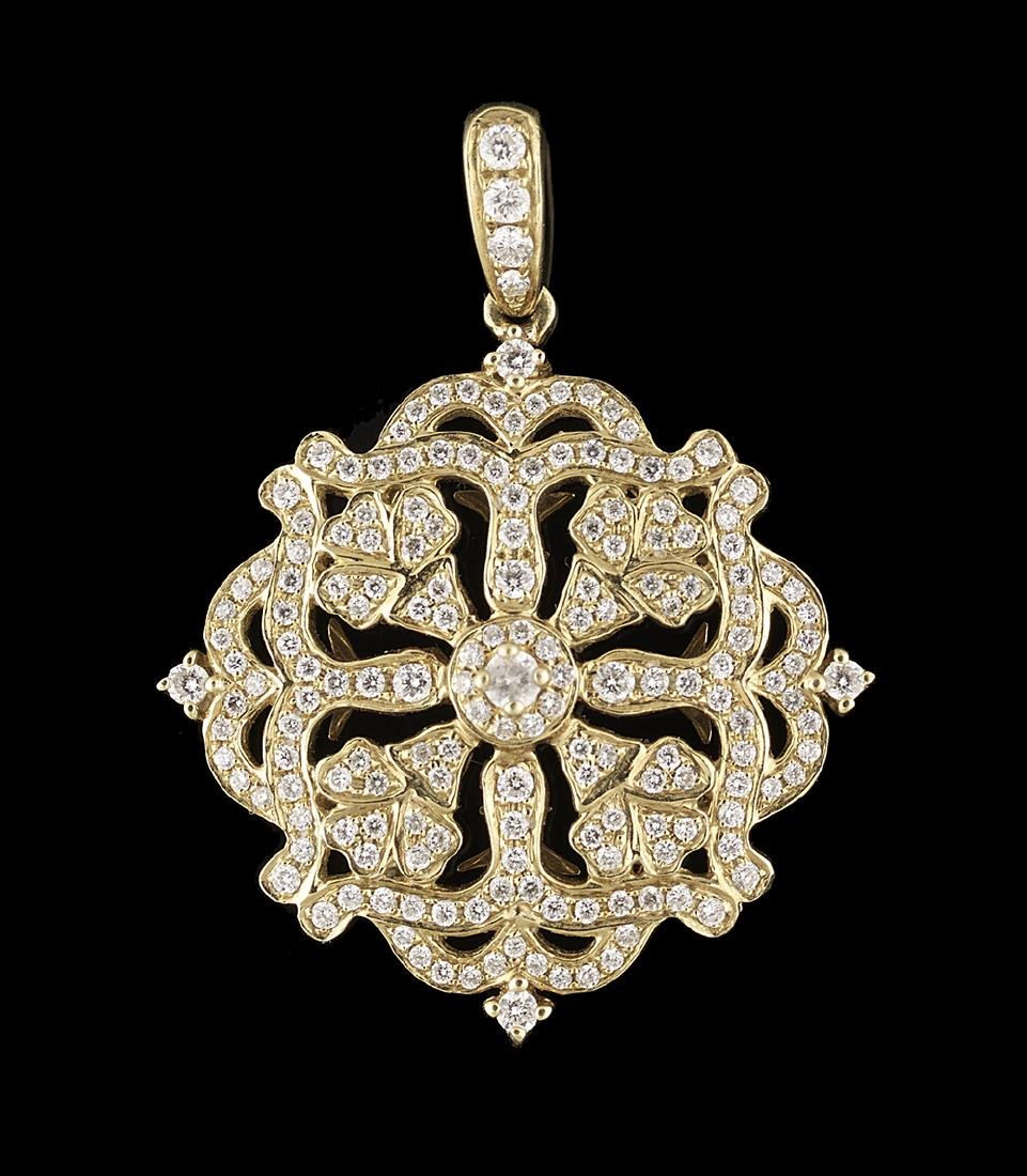 Charles Krypell Diamond Pendant