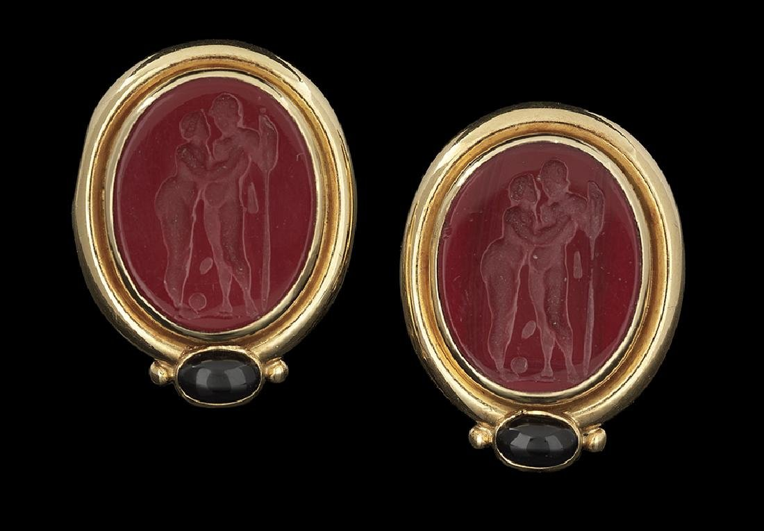 Elizabeth Locke Venetian Glass Earrings