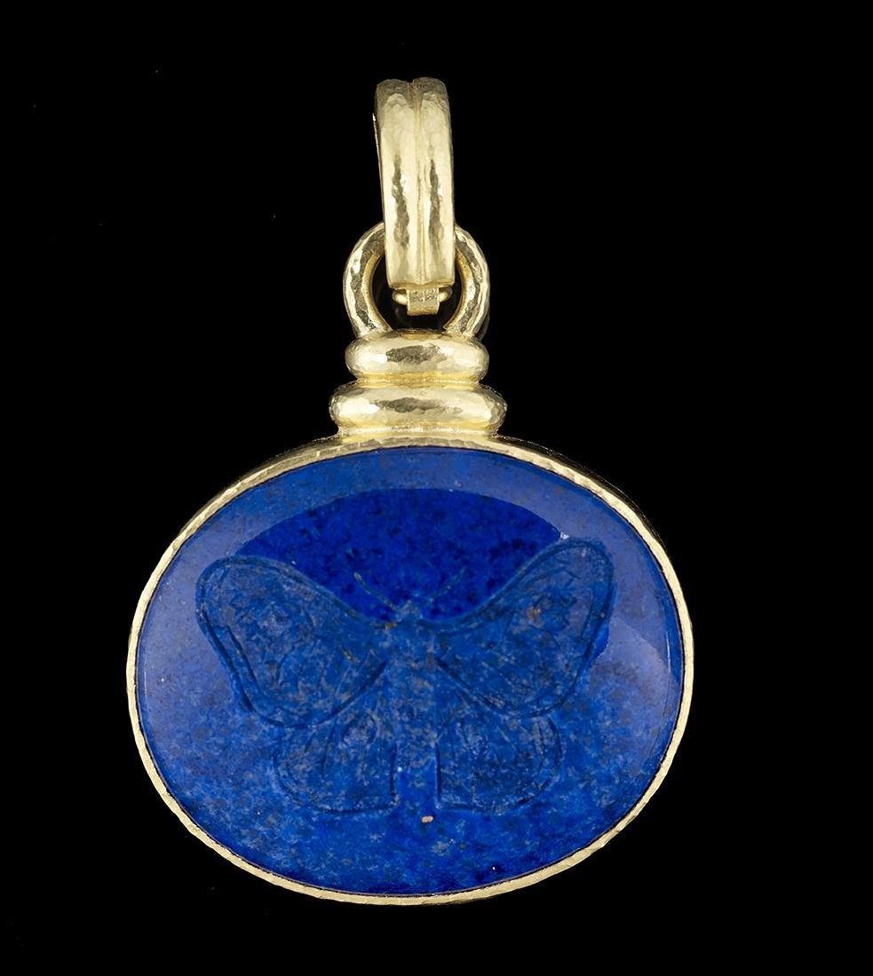 Elizabeth Locke Lapis Lazuli Pendant