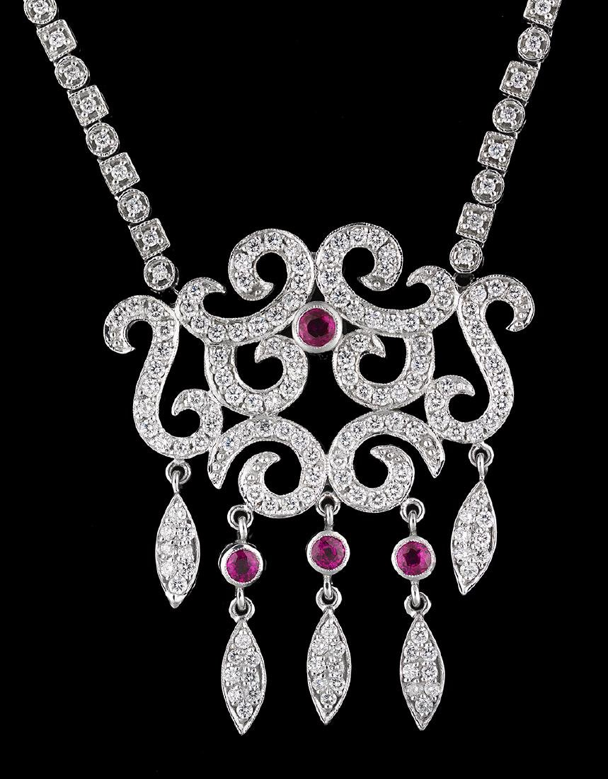 Diamond and Ruby Necklace - 2
