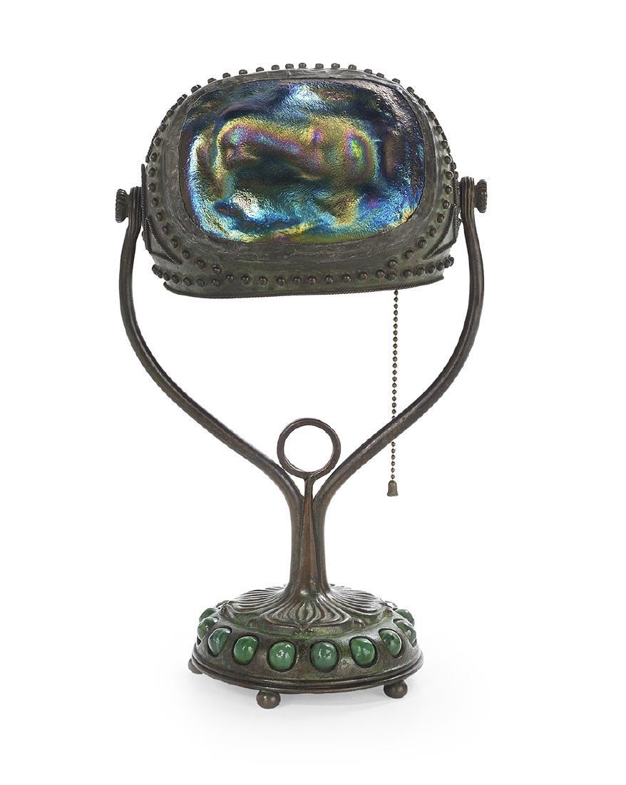 Tiffany Studios Bronze Turtle-Back Desk Lamp