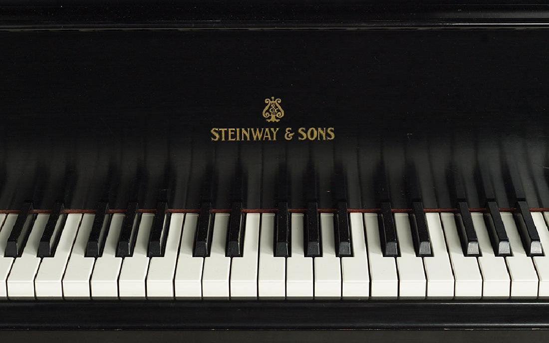 Steinway & Sons Ebonized Baby Grand Piano - 2
