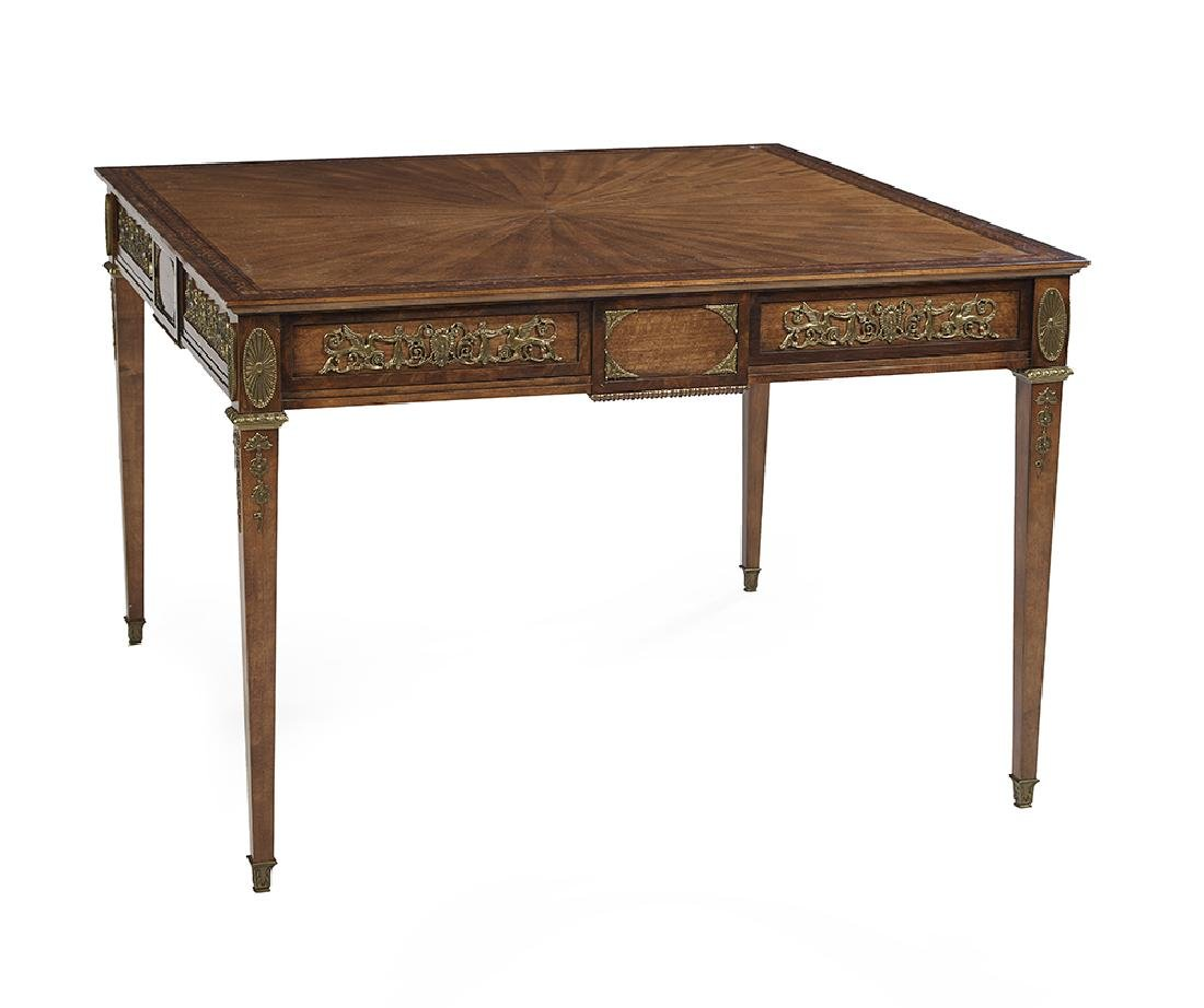 Ormolu-Mounted and Inlaid Game Table