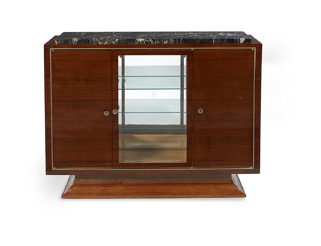 French Art Deco Mahogany Vitrine Cabinet
