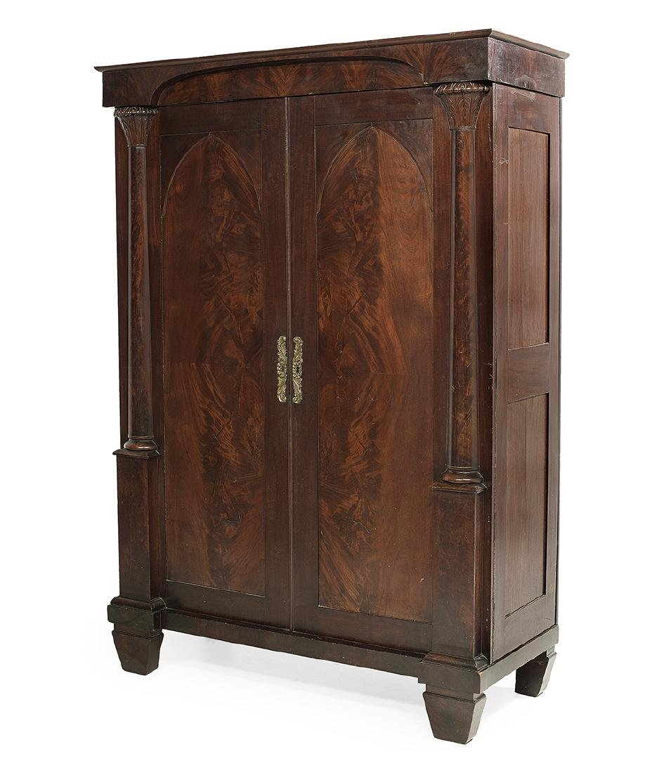American Late Classical Mahogany Armoire - 2