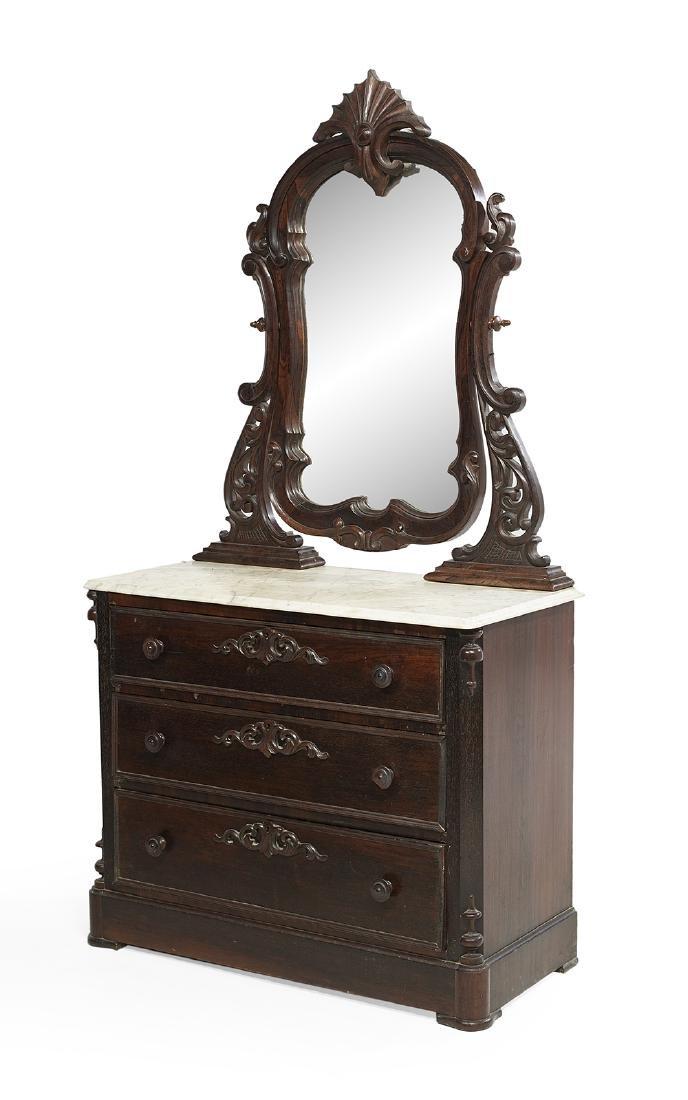 American Rococo Revival Dresser - 2