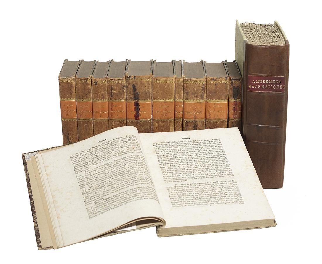 Twelve 18th-C. Volumes of Science and Mathematics