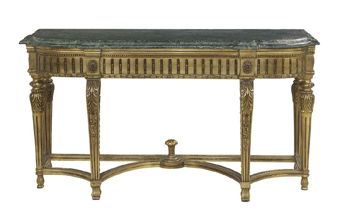 Louis XVI-Style Marble-Top Console Table