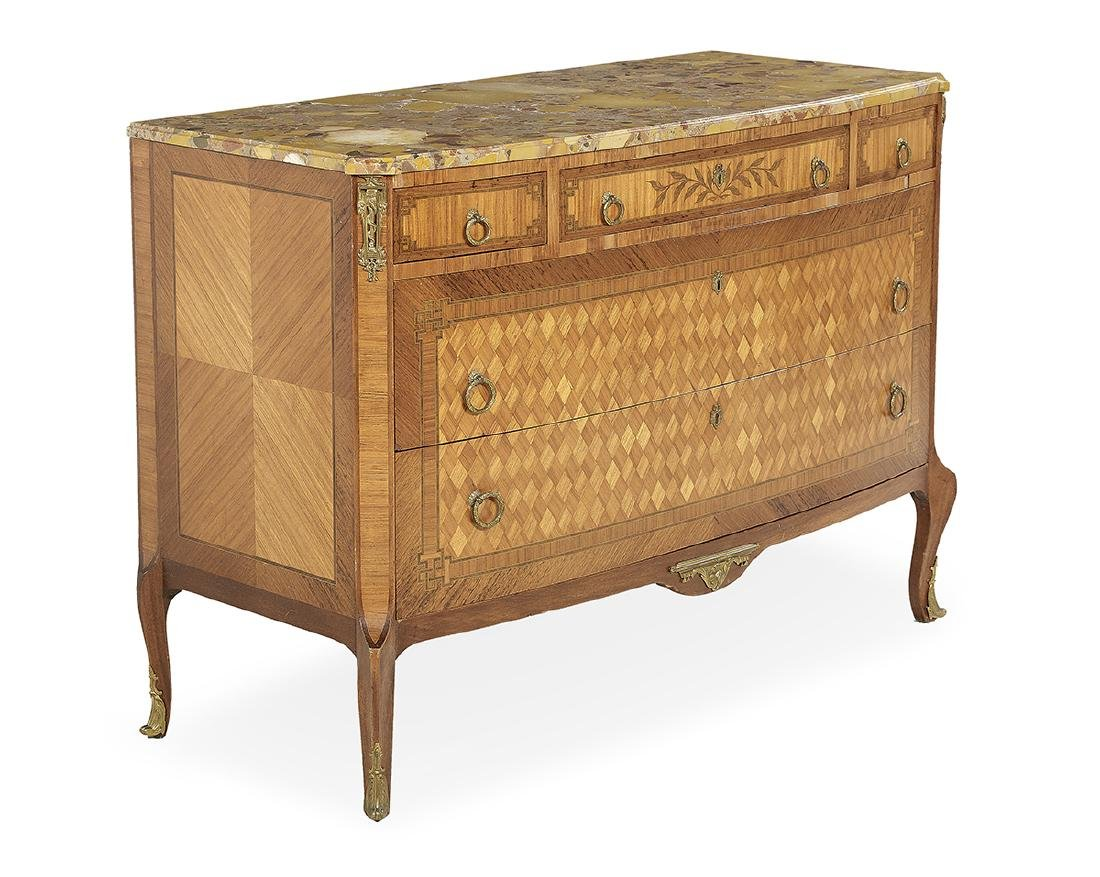 Transitional Louis XV/XVI-Style Commode - 2