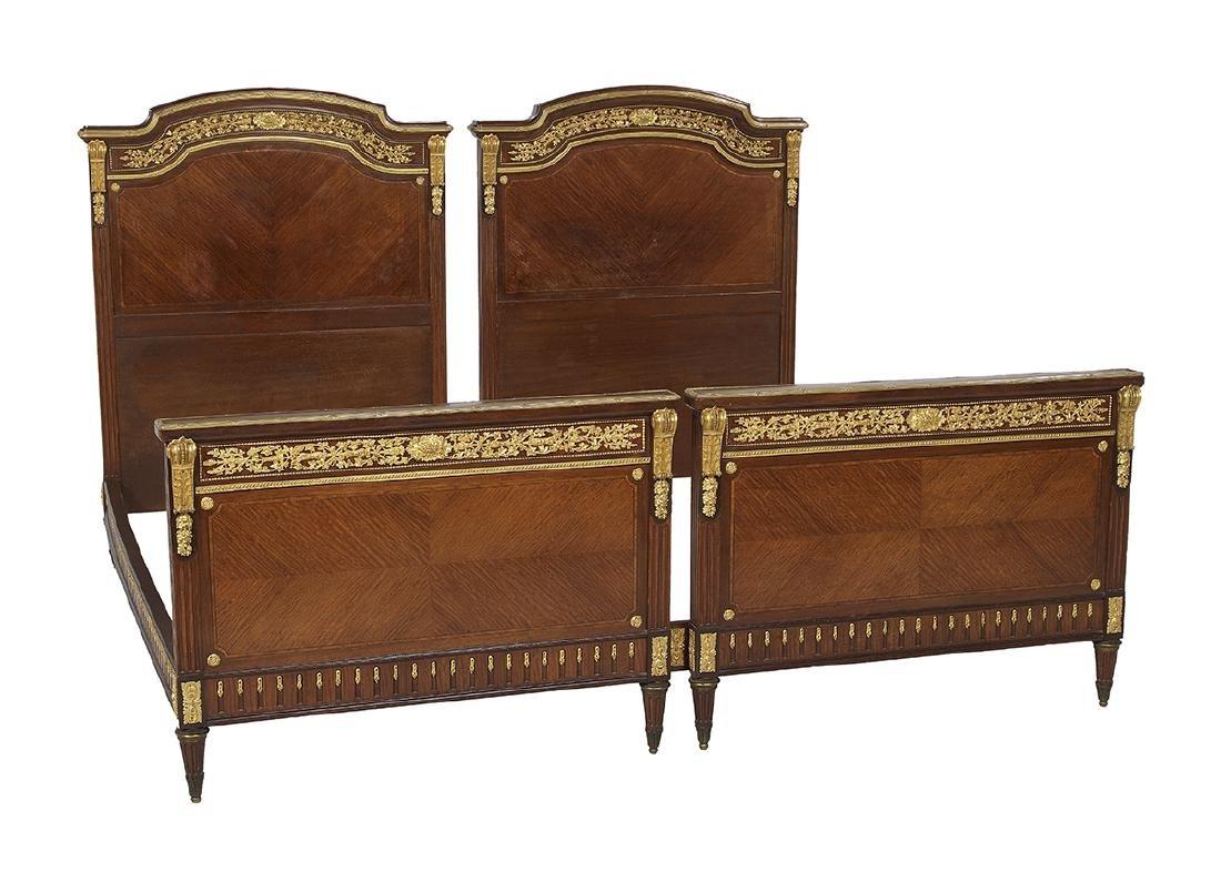 Louis XVI-Style Mahogany King-Size Bed