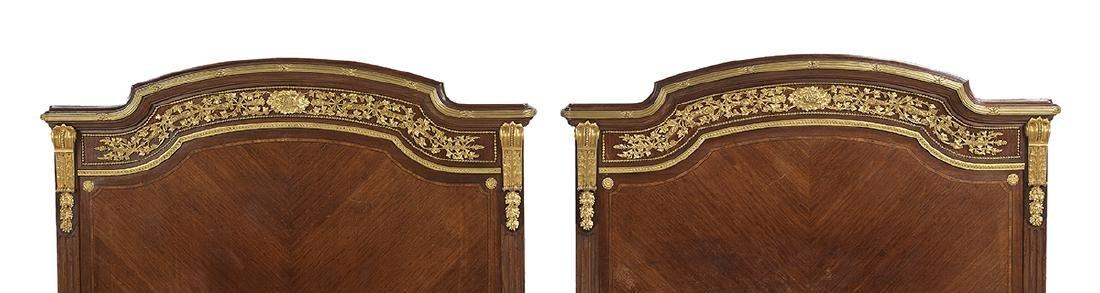 Louis XVI-Style Mahogany King-Size Bed - 2
