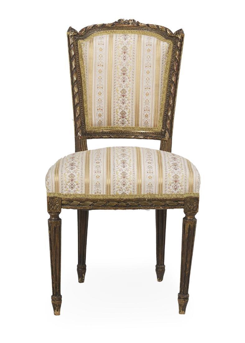 Louis XVI-Style Seven-Piece Giltwood Parlor Suite - 4