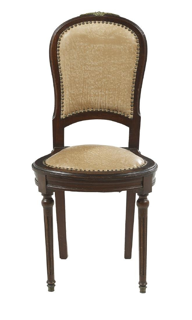 Suite of Ten Louis XVI-Style Mahogany Side Chairs - 2