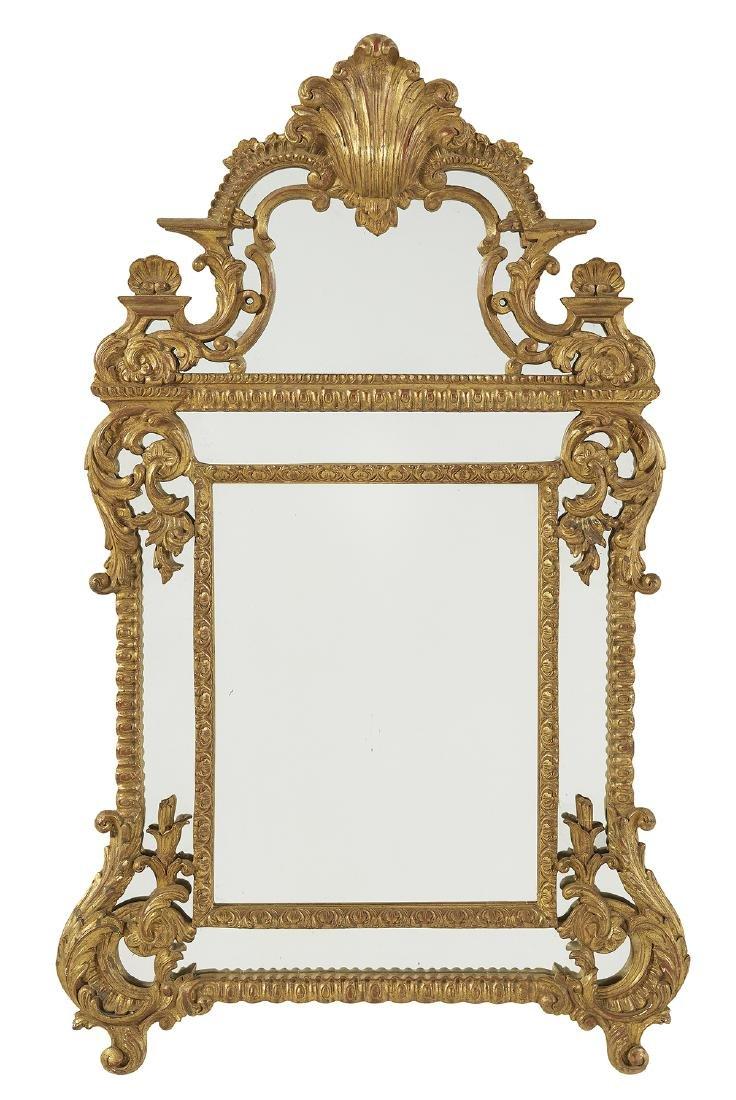 Regence-Style Giltwood Mirror