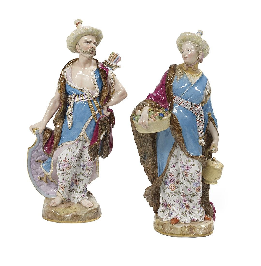 Pair of Meissen Porcelain Malabar Figures