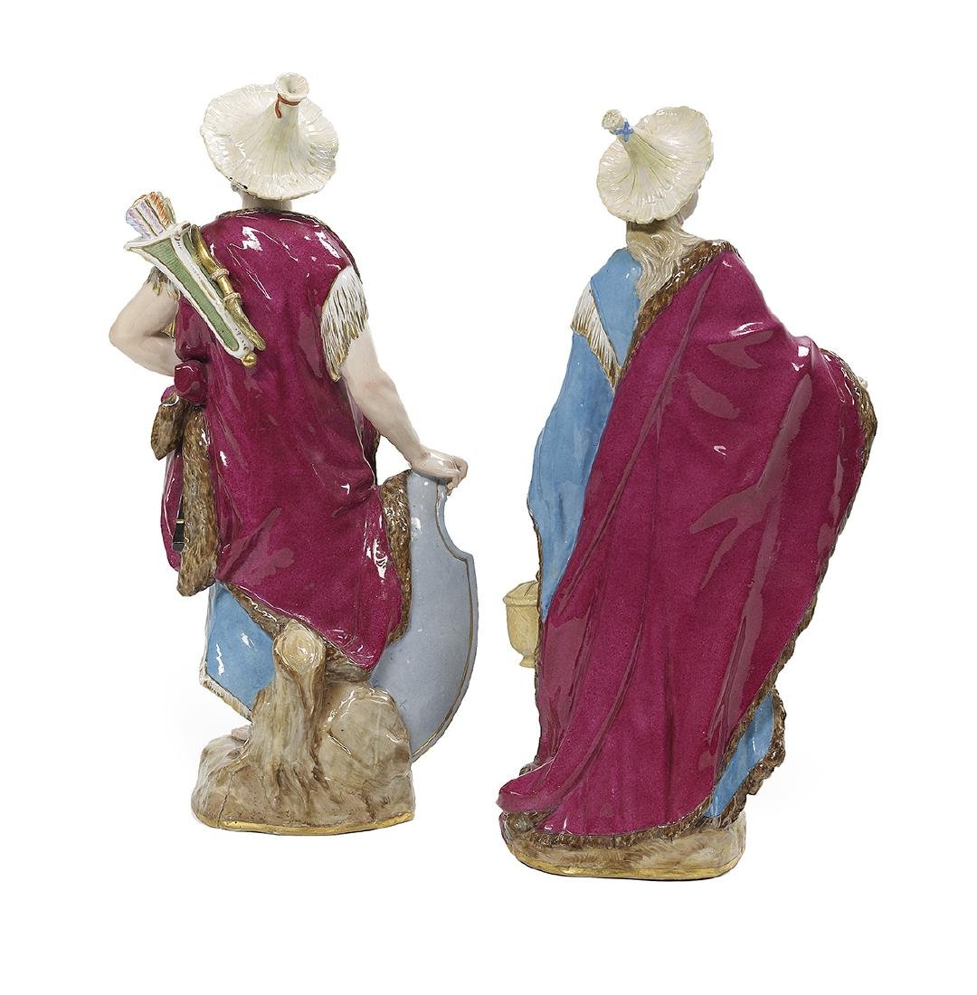 Pair of Meissen Porcelain Malabar Figures - 2