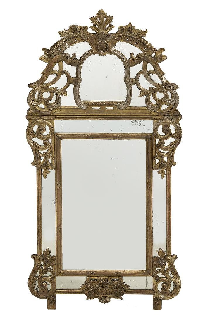 French Regence-Style Giltwood Mirror