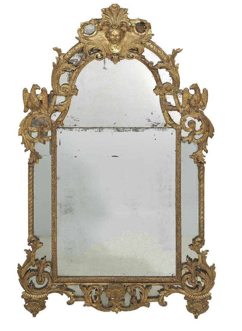 Exceptional Regence Giltwood Mirror