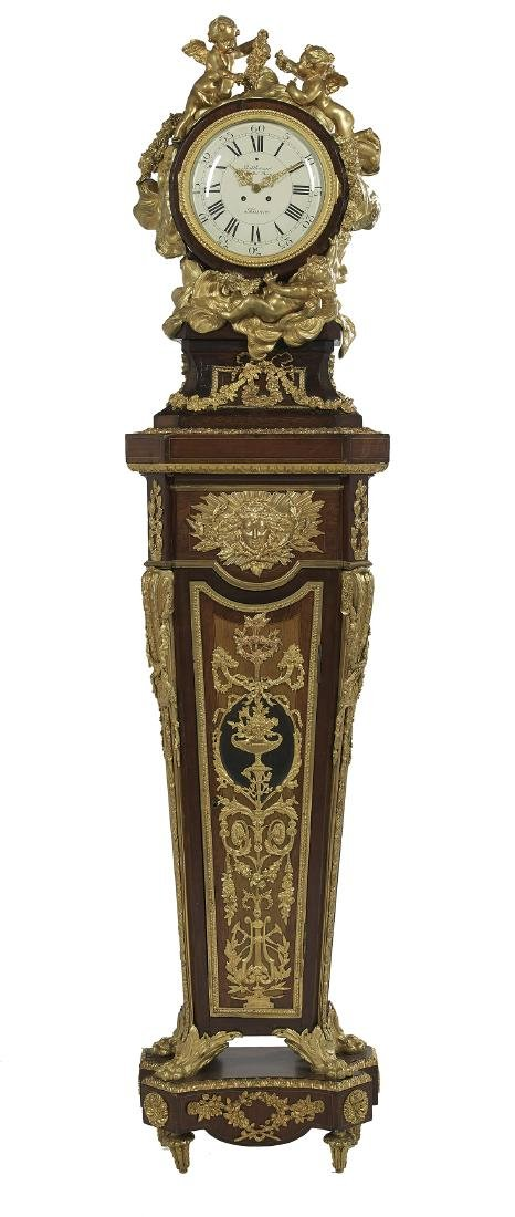 French Louis XIV-Style Tall Case Clock