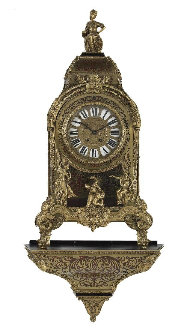 Louis XIV-Style French Boulle Bracket Clock