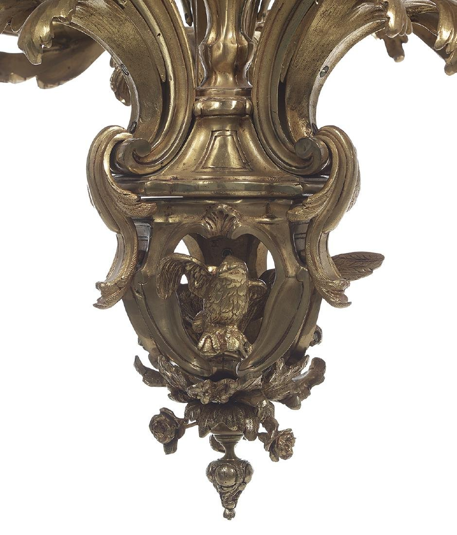 French Gilt-Bronze Louis XV-Style Chandelier - 4