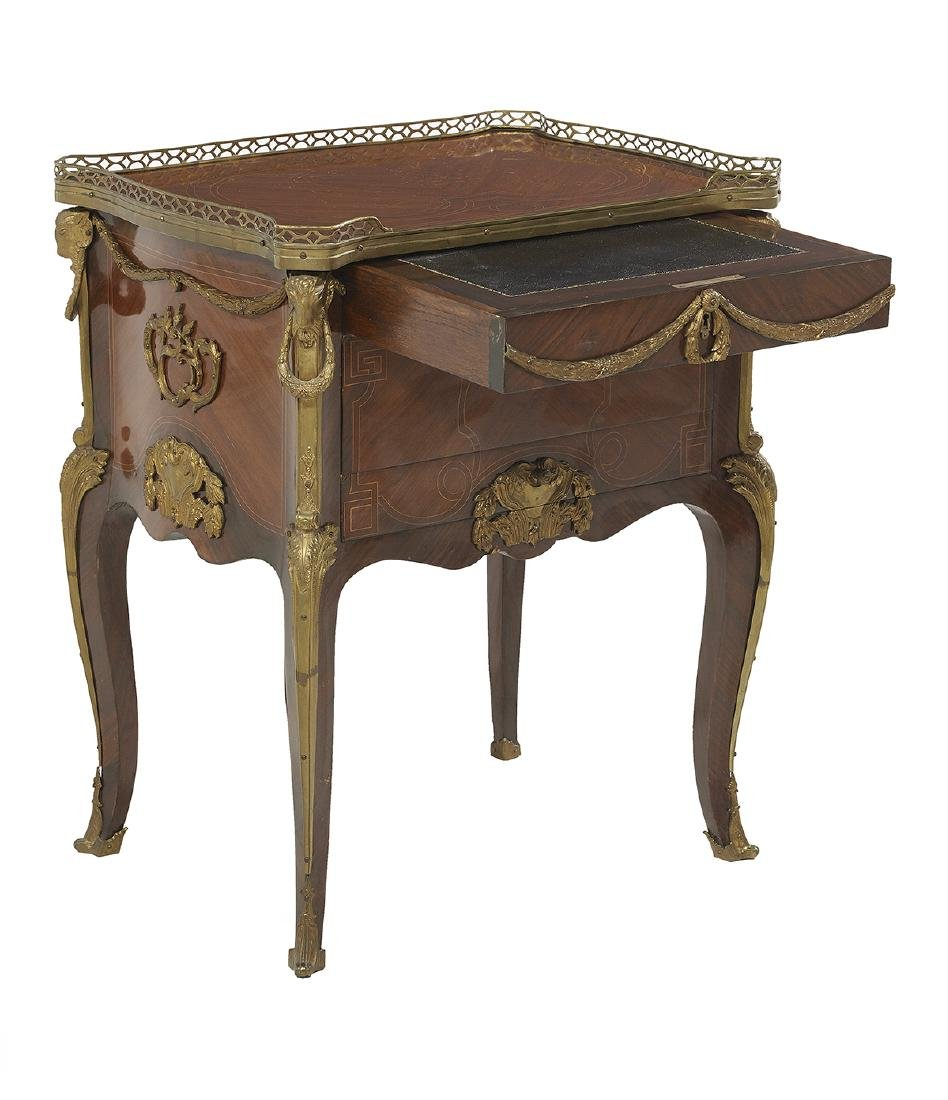 Louis XV-Style Mahogany and Rosewood Commode