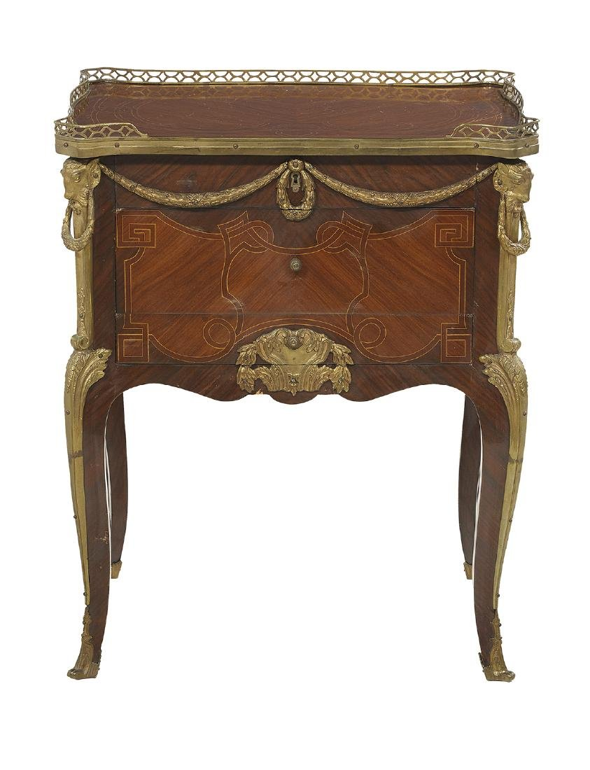 Louis XV-Style Mahogany and Rosewood Commode - 2