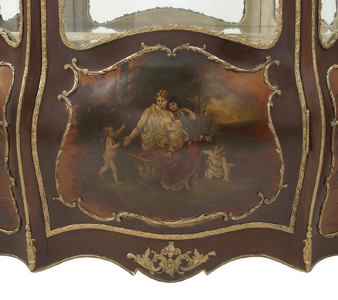 Louis XV-Style Mahogany Vitrine - 2