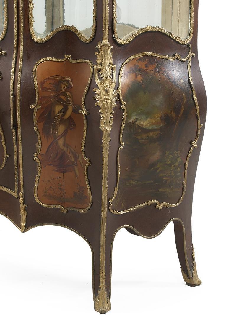 Louis XV-Style Mahogany Vitrine - 3