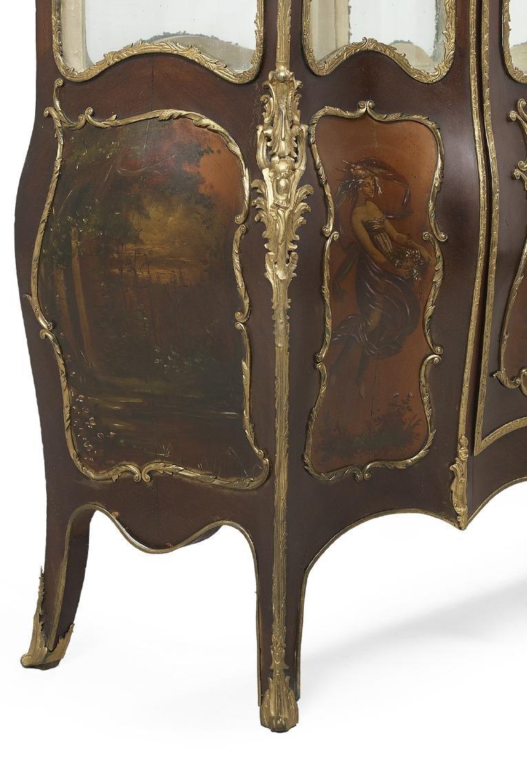 Louis XV-Style Mahogany Vitrine - 4