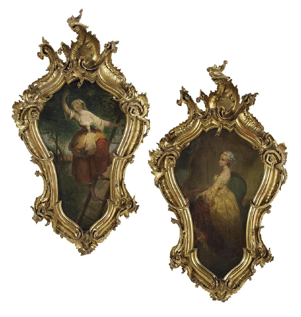 Pair of Continental Allegorical Paintings