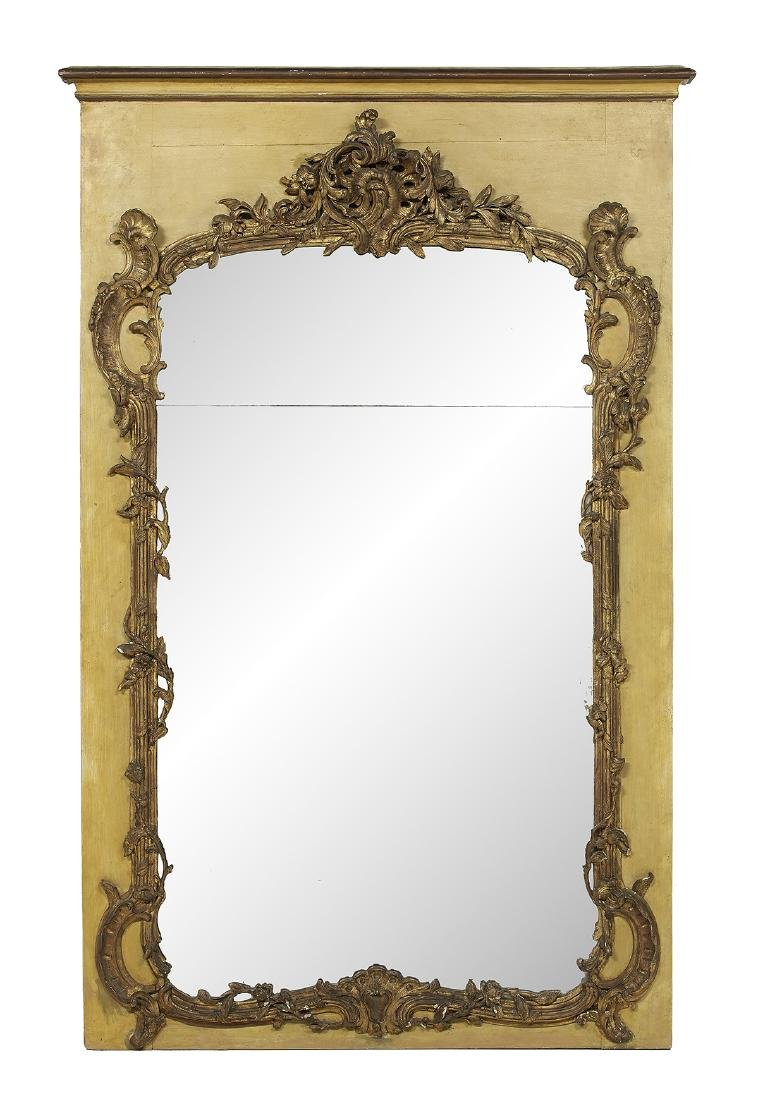 Louis XV-Style Parcel-Gilt Overmantel Mirror