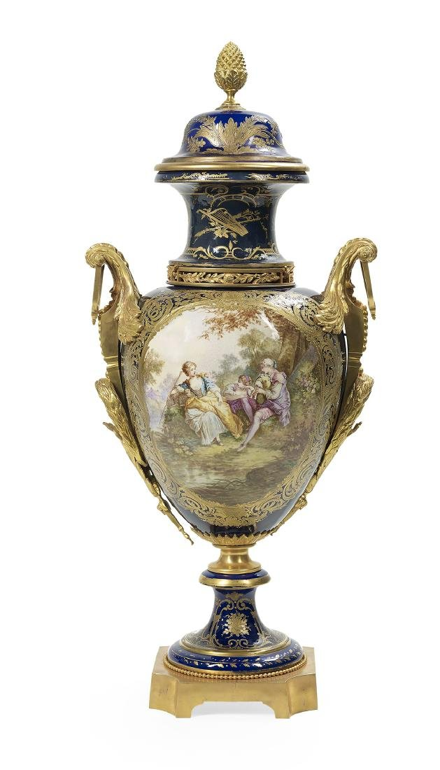 French Sevres-Style Palace Urn